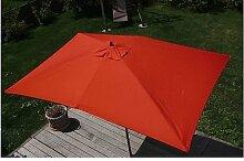 Holz Sonnenschirm 2x3m Schirm Gartenschirm