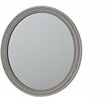 Holz Spiegel oval