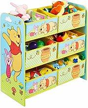 Holz Spielzeugregal AUSWAHL Frozen Cars Minnie Maus Mickey Maus Winnie Pooh Kinderregal Organizer (Winnie Pooh)