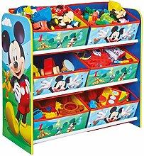 Holz Spielzeugregal AUSWAHL Frozen Cars Minnie Maus Mickey Maus Winnie Pooh Kinderregal Organizer (Mickey Maus)
