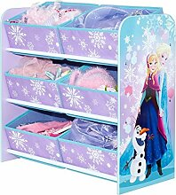 Holz Spielzeugregal AUSWAHL Frozen Cars Minnie Maus Mickey Maus Winnie Pooh Kinderregal Organizer (Frozen - Die Eiskönigin)