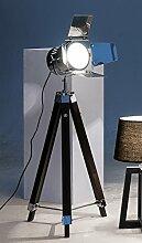 Holz-Stehlampe m.Licht-Spot silber 1st.