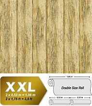 Holz Tapete Vliestapete EDEM 944-22 Hochwertige geprägte Tapete in Holzoptik Holzdielen-Muster olivebaum-grün antik-grün 10,65 qm