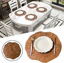 Holz Tischset Holzmatte Western Tischset Pfahl
