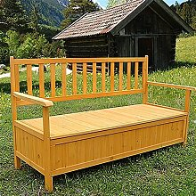 Holz Truhenbank Sitzbank Gartenbank Holztruhe Holzbank Auflagenbox Gartenbox