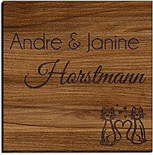 Holz Türschild mit Gravur | Namensschilder