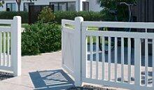 Holz Vorgartenzaun Linea: Gartenzäune mit einem