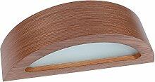 Holz-Wandleuchte LED 6W | Wandlampe Holz Nussbaum