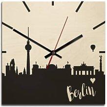 Holz-Wanduhren - Holz-Wanduhr - Skyline Berlin