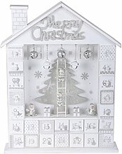 Holz Weihnachten Advent Kalender 24Schubladen Home Weihnachts weihnachtliche Dekoration Geschenk Wooden House