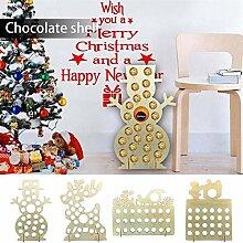 Holz Weihnachten Adventskalender, handgemachte