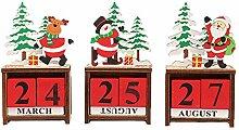 Holz-Weihnachtskalender, 3 Stück, Adventskalender