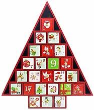 Holz-Weihnachtskalender Weihnachtsbaum Countdown