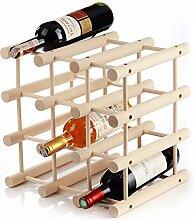 Holz-Weinregal für 12Flaschen, praktisch für