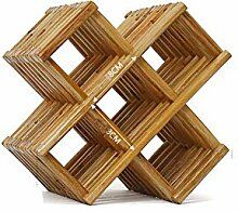 Holz Weinregal Metall,Bambus Weinregal mit 10