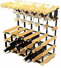 Holz Weinregal Wand Weinständer Becherhalter