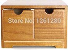 Holz-Werkzeugkoffer für Schreibtisch, Schublade,