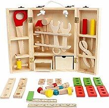 Holz Werkzeugkoffer Kinder Spielzeug