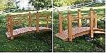 Holz Zierbrücken 1/Stck  ,Maße (cm):L 250 x B 90