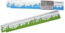 Holz Zollstock FRANKFURT Skyline grün/blau Gliedermaßstab, 2m Holz-Maßstab für Hobby Heim- und Handwerker, Geschenkidee Gastgeschenk Einladung Umzug Einzug Geburtstag, für Frankfurter und Frankfurt Fans von 44spaces