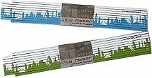 Holz Zollstock LONDON Skyline grün/blau Gliedermaßstab, 2m Holz-Maßstab für Hobby Heim- und Handwerker, Geschenkidee Gastgeschenk Einladung Umzug Einzug Geburtstag, für London Fans von 44spaces