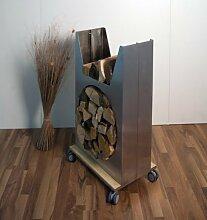 Holzaufbewahrung fahrbar Höhe 90 Breite 40cm, in