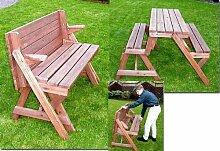 Holzbank Tisch Sitzgarnitur clevere Sache die
