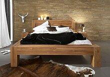 Holzbett Balder 140 x 200 cm aus massiver Wildeiche Bett aus Wildeichenholz Oberfläche geöl