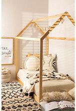 Holzbett für Matratze 90 cm Obbit Kids Braun