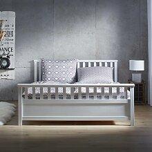 Holzbett in Weiß ca. 180x200cm 'Pina'