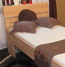 Holzbett mit hoher Sitzhöhe - Massivholzbett