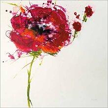 Holzbild 70 x 70 cm: Poppy Master on White von Jan