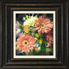 Holzbild Bouquet 50x50 cm bunt Holzbilder Bilder