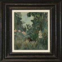 Holzbild Dschungel 50x50 cm bunt Holzbilder Bilder