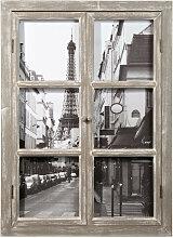 Holzbild Fenster, 57x79