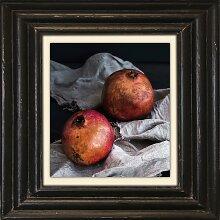 Holzbild Granatäpfel I 50x50 cm bunt Holzbilder