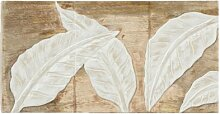Holzbild Leaves Haus am Meer