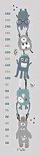 Holzbild Messlatte mit Monstern