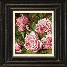 Holzbild Rosen 50x50 cm bunt Holzbilder Bilder