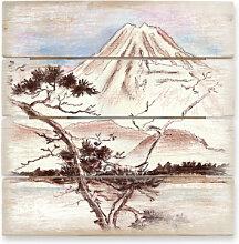 Holzbilder - Holzbild Toetzke - Asian Landscape