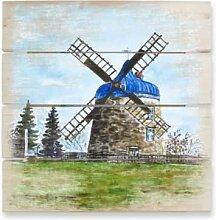 Holzbilder - Holzbild Toetzke - Traditionelle Windmühle