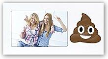 Holzbilderrahmen Emoji 4 shit happens 10x15 cm quer