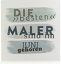 HOLZBLOCK Shabby DIE Besten Maler Juni Anstreicher Geschenkidee Geburtstag Kollege Mann Freund