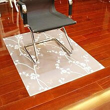 Holzboden PVC Soft Glass Schutz Teppich Computer Swivel Schreibtischstuhl Matten, 5, 100 * 150 cm