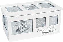 Holzbox HOME mit 8 Fotoalben, 20x34, weiß