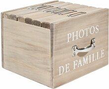 Holzbox mit 6 Fotoalben FELICITE, 13 x 17 cm