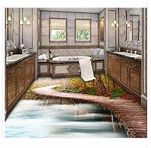 Holzbrücke Badezimmer Schlafzimmer 3D Boden 3D