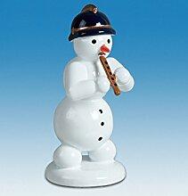 Holzfigur Weihnachtsfigur Schneemann mit