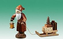Holzfigur Weihnachtsfigur Weihnachtsmann mit