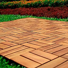 Holzfliesen Akazienholz, vorgeölt, 10 Stück,